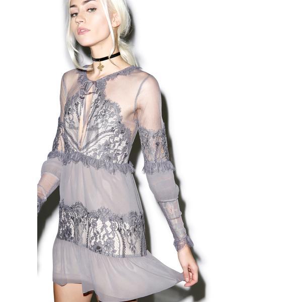 For Love & Lemons Slate Alexa Mini Dress