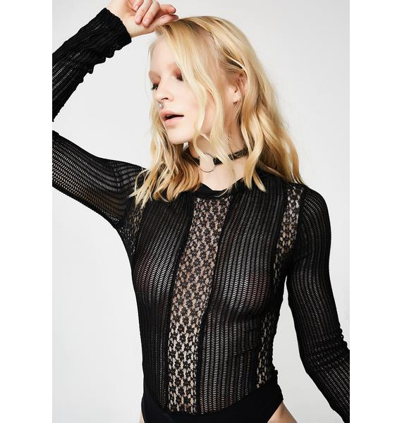 Wild Flame Lace Bodysuit