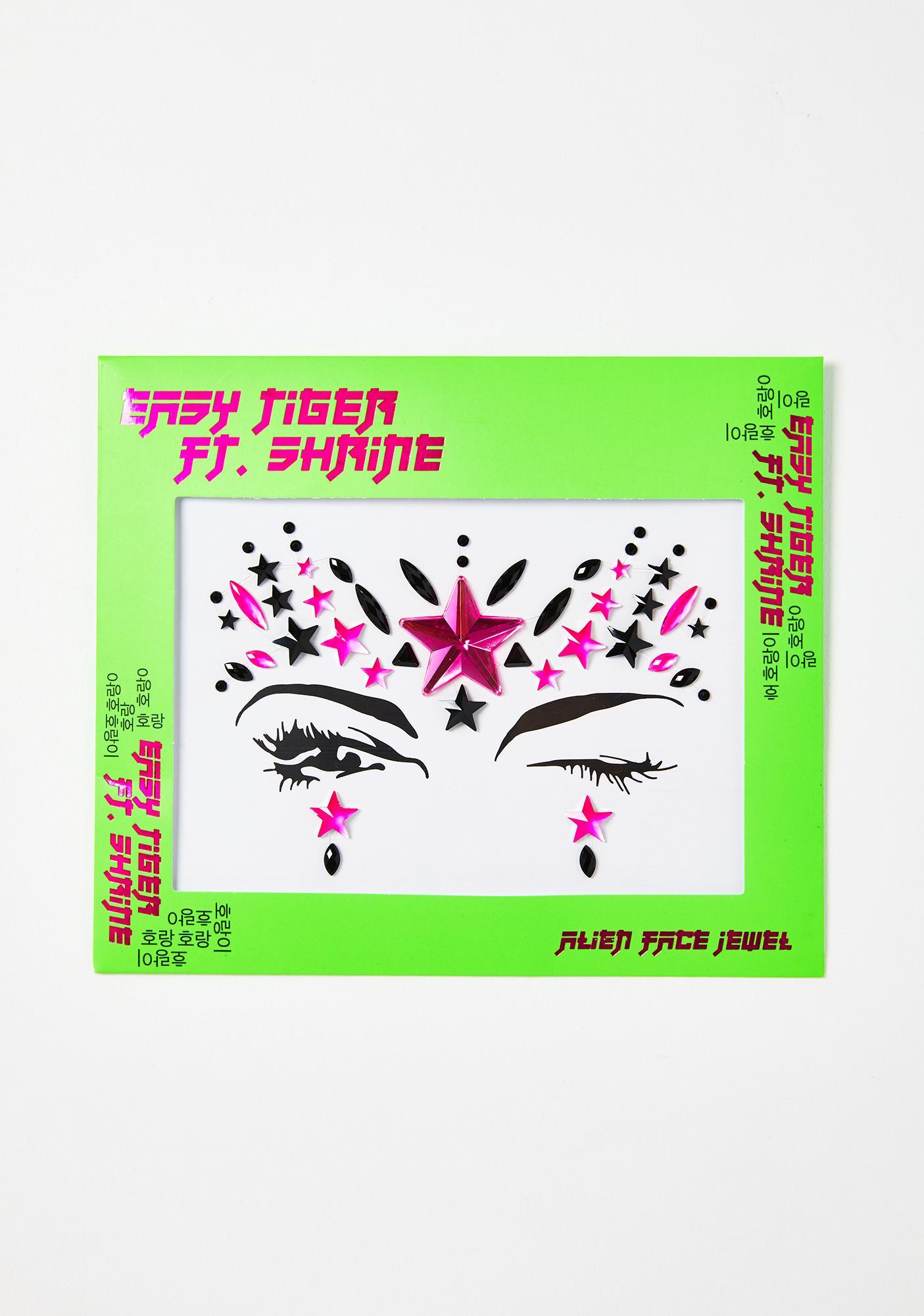 The Gypsy Shrine Neon Pink Alien Face Jewels