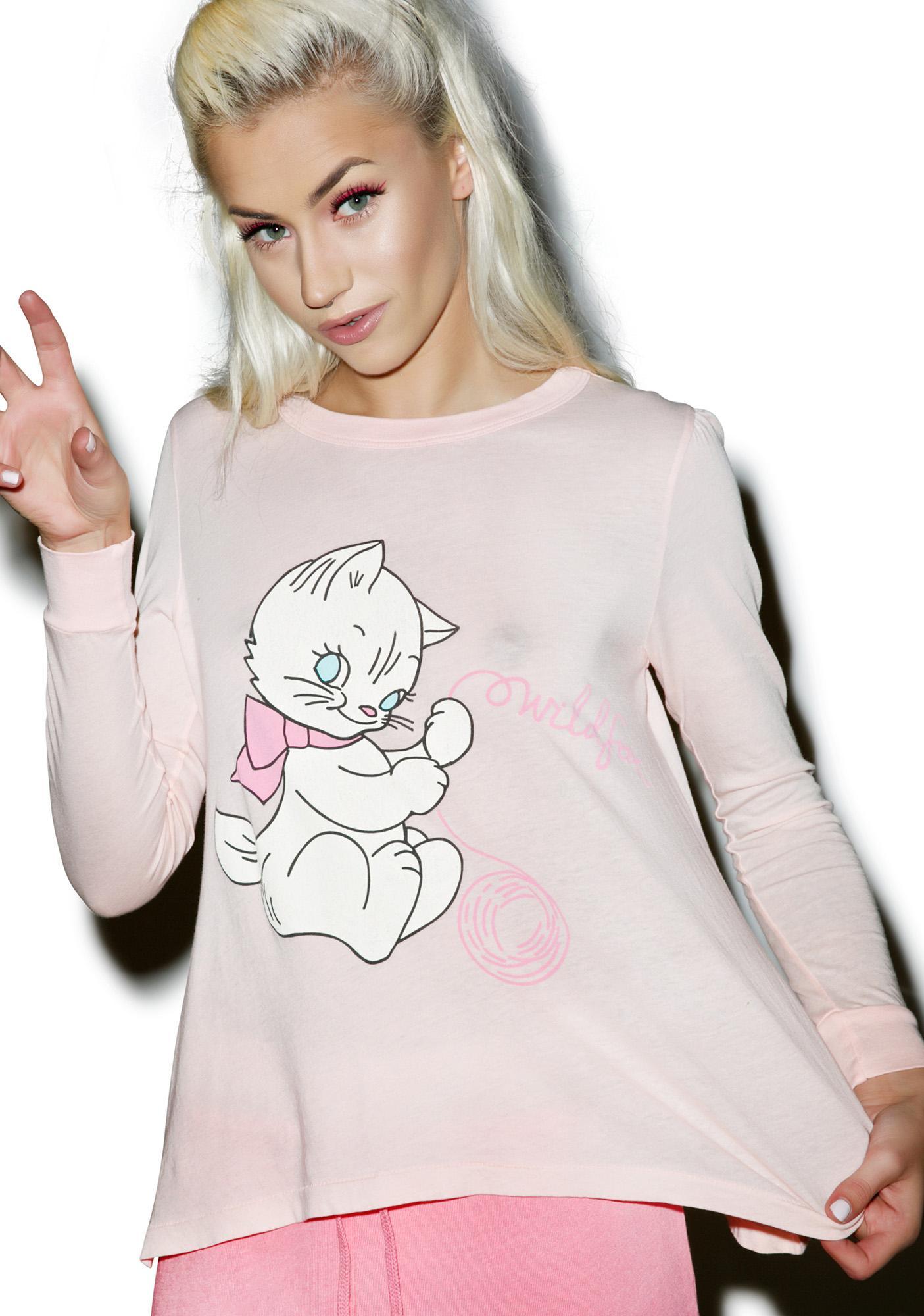 Wildfox Couture Playful Kitty Princess Tee