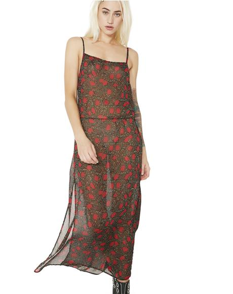 Bouquet Baby Sheer Maxi Dress