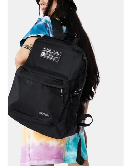 Black Recycled Superbreak Backpack
