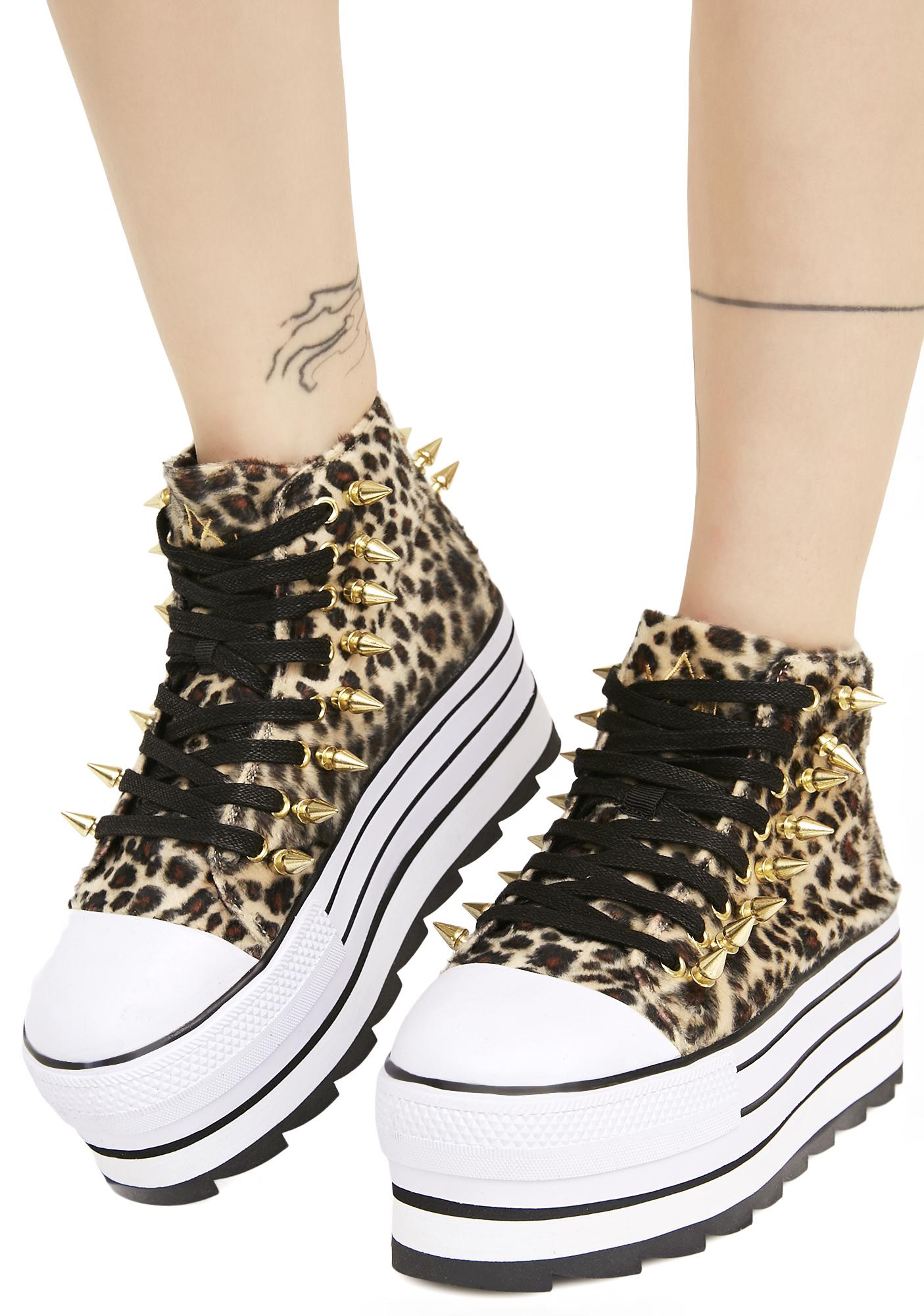 Y.R.U. Elevation Leopard Platform Sneakers