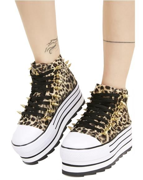 Elevation Leopard Platform Sneakers