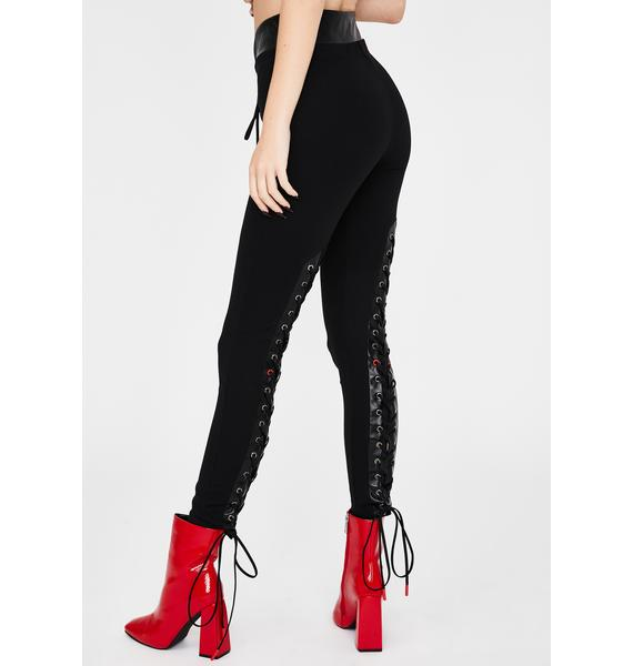 Kiki Riki Righteous Vixen Lace Up Pants