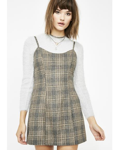 Stoned Hello Again Plaid Dress
