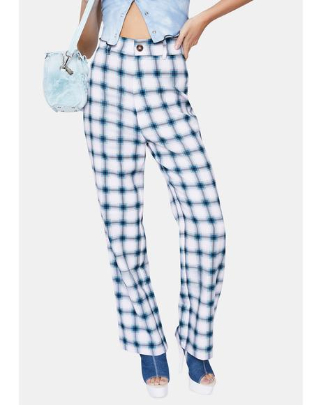 Culture Plaid High Waist Pants
