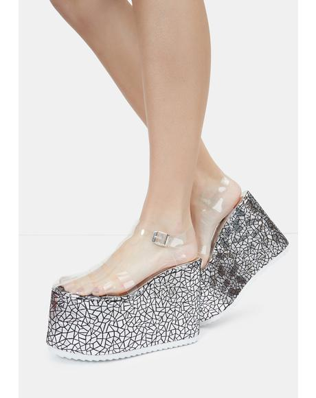 Silver Zahara Platform Sandals