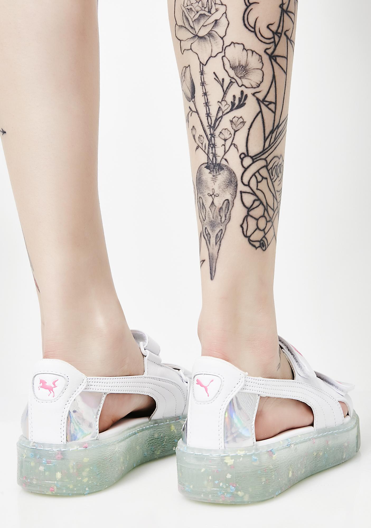 PUMA Platform Sandals Splatter SW