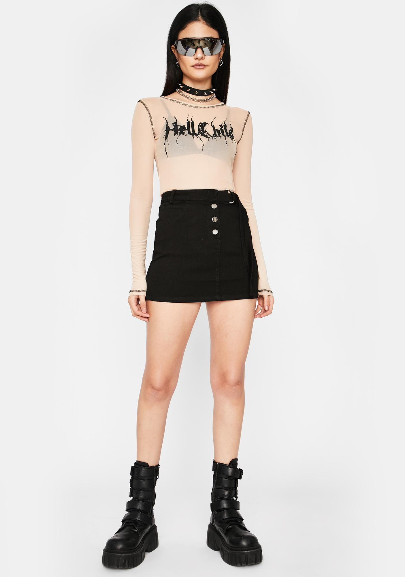Bad Guy Button Up Skirt