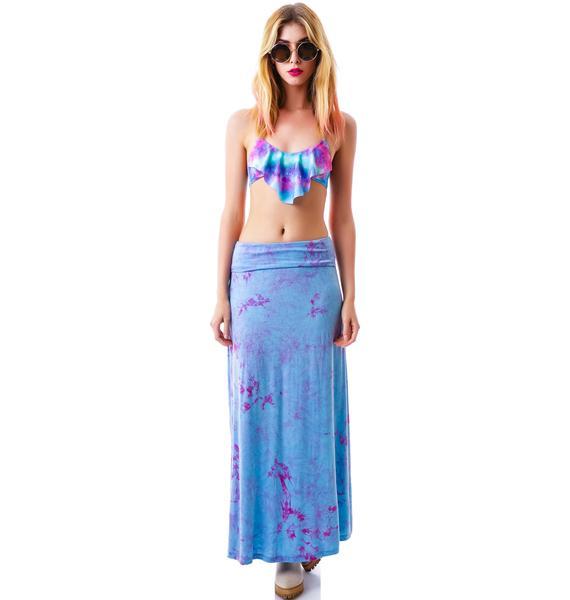 Lilith Fair Tie Dye Maxi Skirt