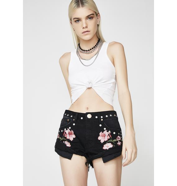 Wanderlust Embroidered Shorts