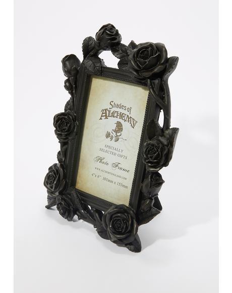 Black Rose And Vine Photo Frame