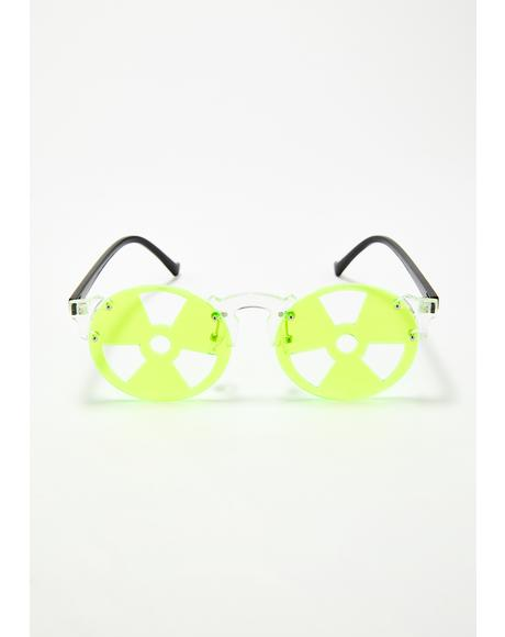 Nuclear Radiation Neon Sunglasses