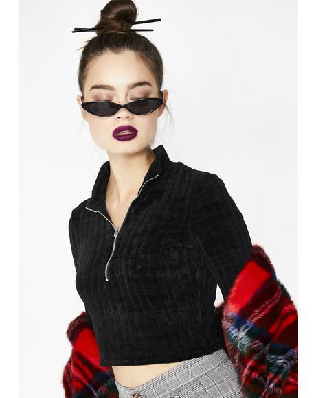 Get My Drift Crop Sweater