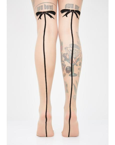 Forever Innocent Bow Tights