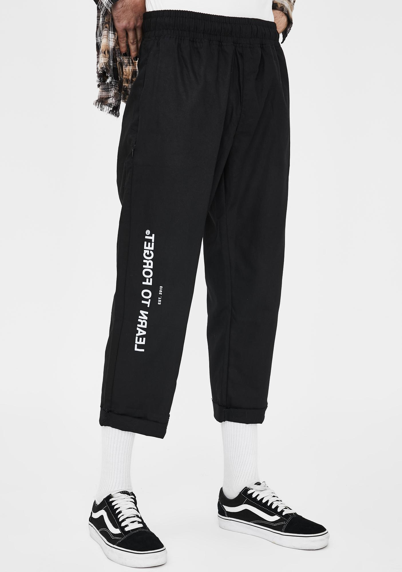 Learn To Forget Logo Cropped Chino Pants