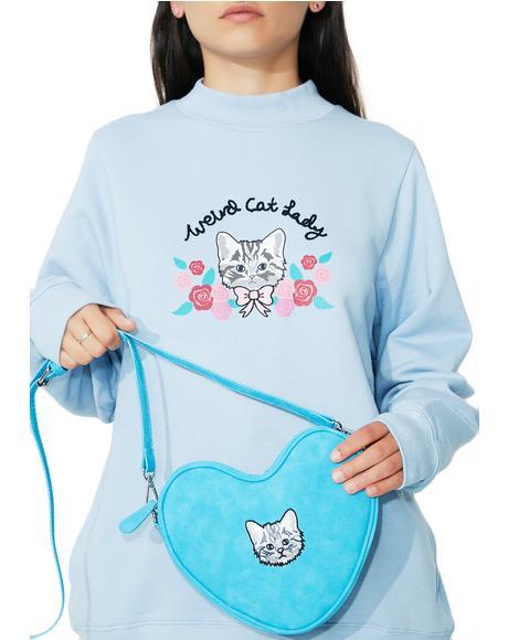 Soft Heart Kitty Bag