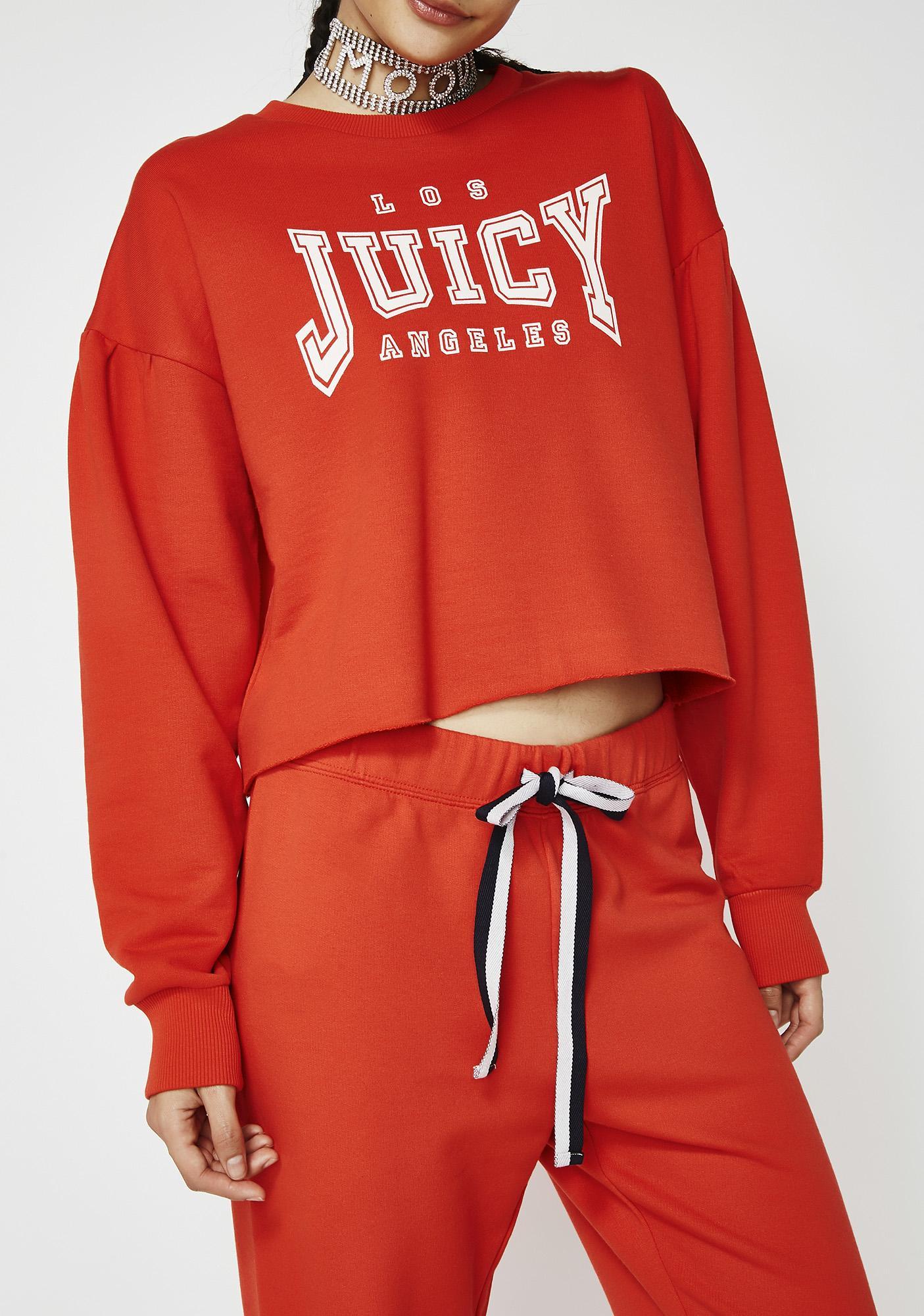 JUICY COUTURE Juicy LA Logo Terry Pullover