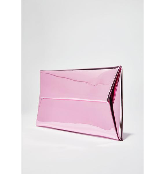 Sweet Mirror Mirror Metallic Clutch