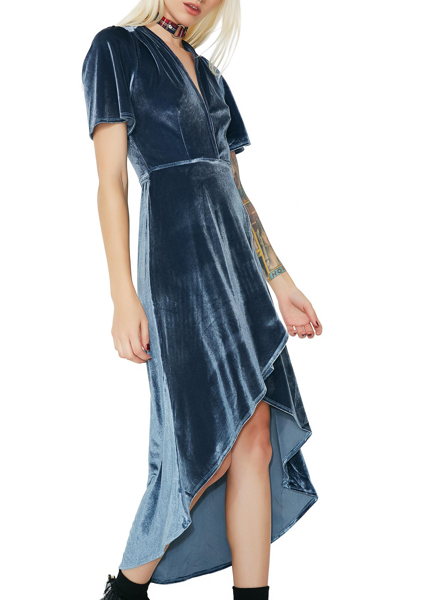 Mysterious Allure Velvet Wrap Dress