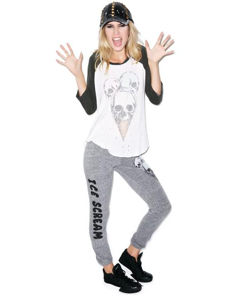 Jazzy Color Skull Cone Jersey Sweatpant