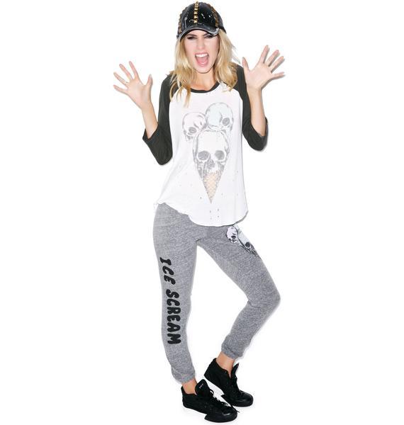 Lauren Moshi Jazzy Color Skull Cone Jersey Sweatpant