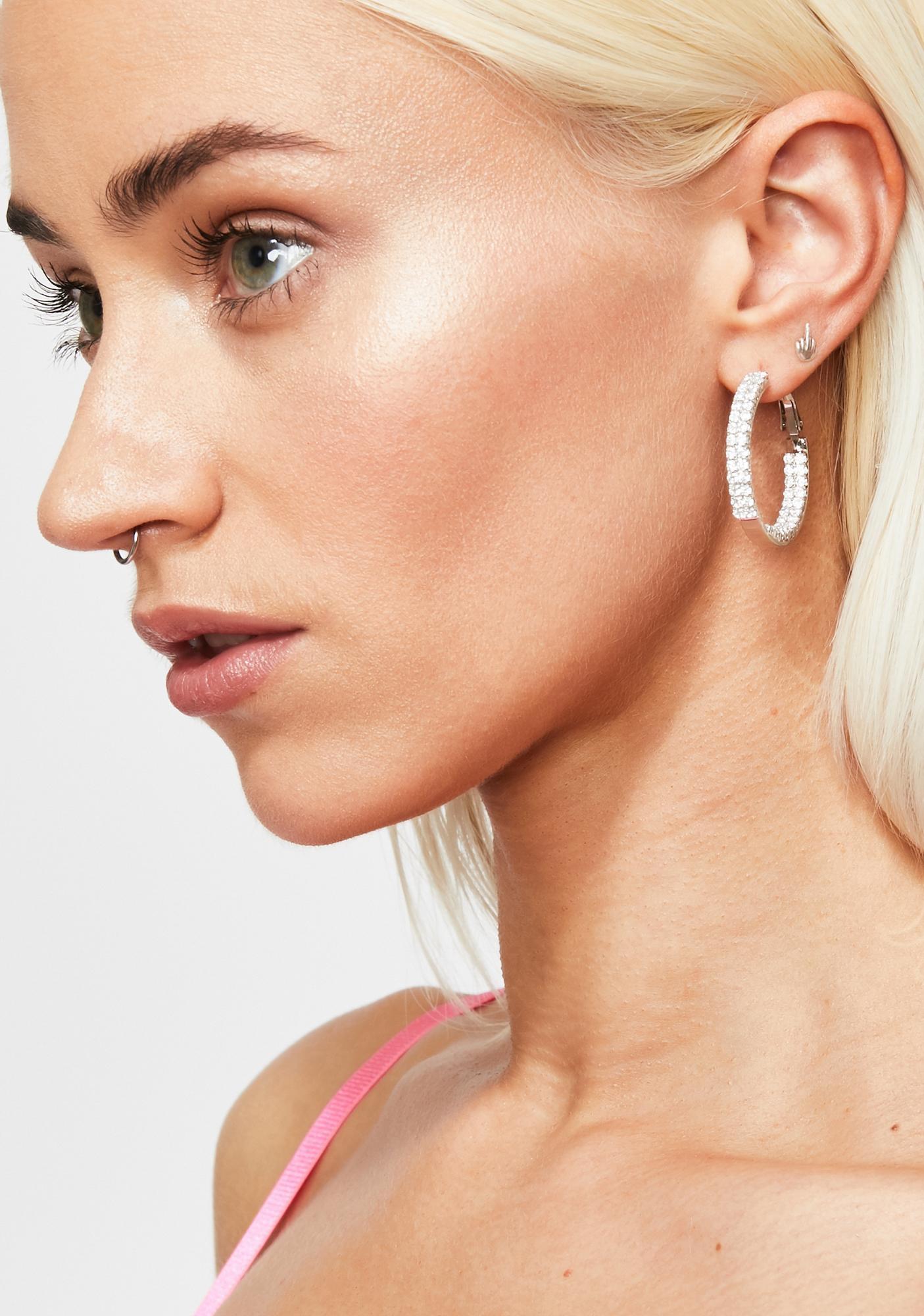 Classy By Nature Rhinestone Earrings