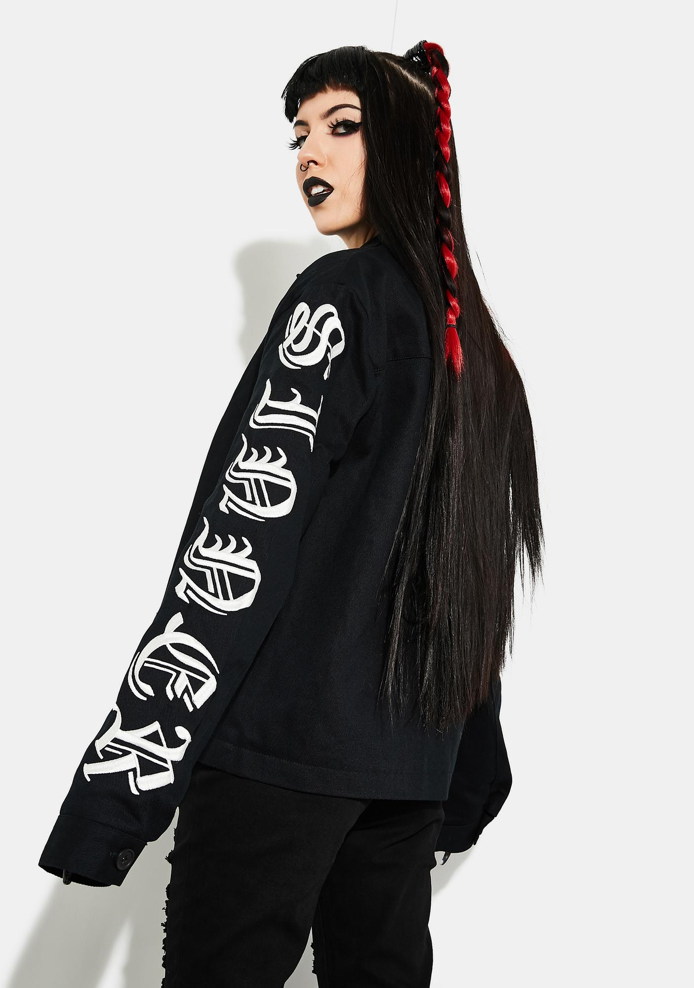 Current Mood I Won't Repent Boxy Graphic Jacket