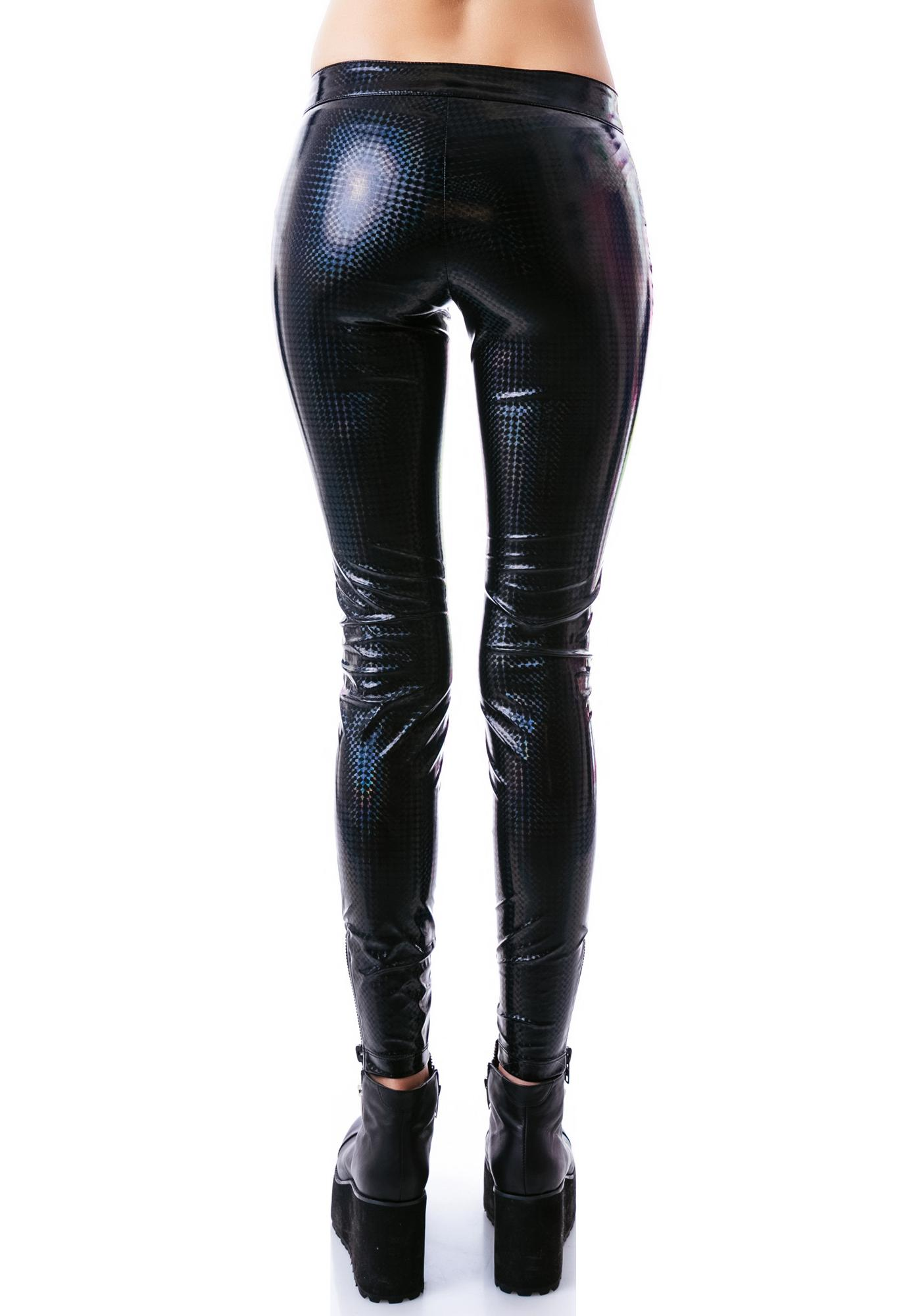 Lip Service Dark Matter PVC Low Rise Pants