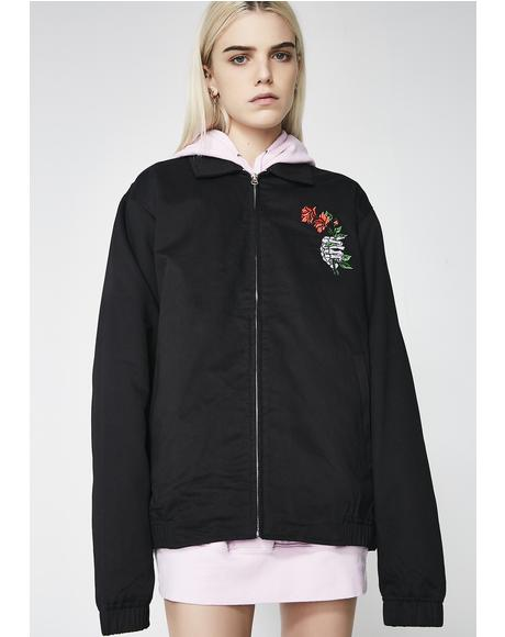 Dead Rose Cotton Coach Jacket