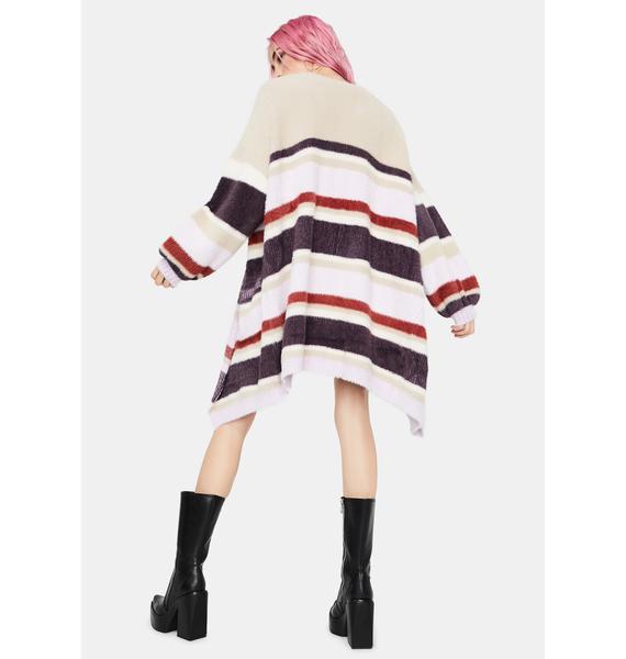 Shifting Winds Striped Knit Cardigan