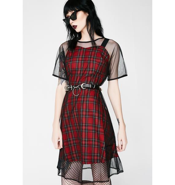 New Nostalgia Tartan Dress