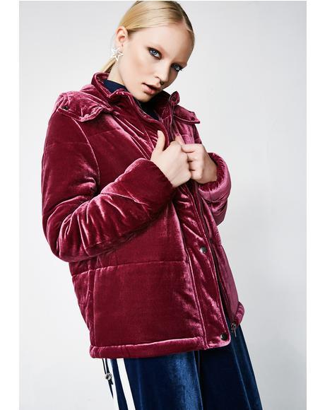 Best Mistake Velvet Puffer Jacket