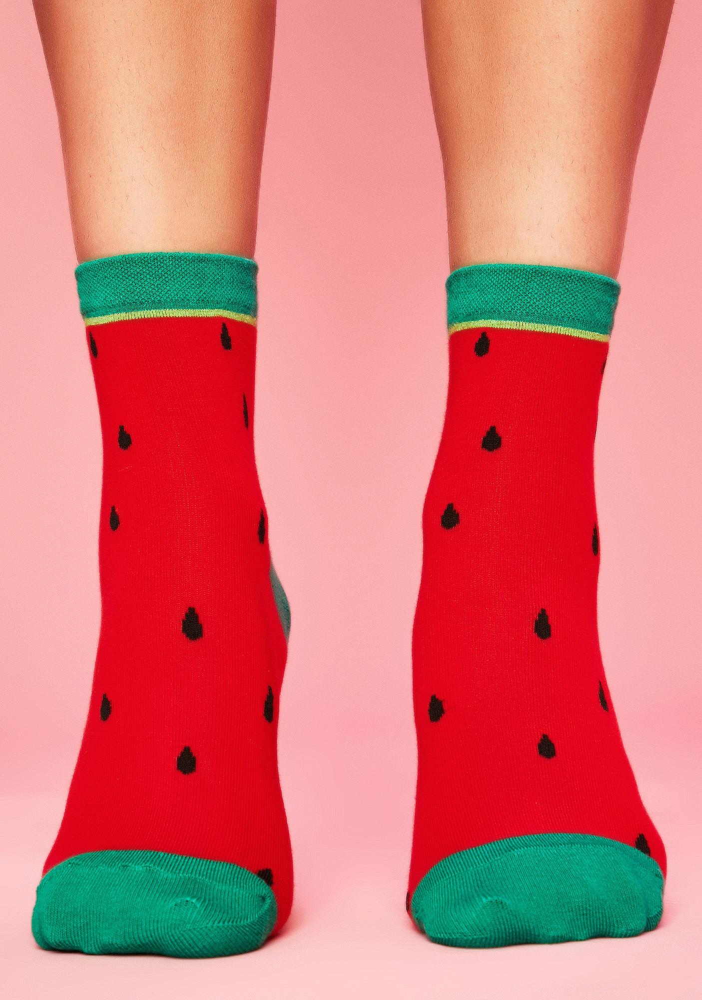 One In A Melon Ankle Socks