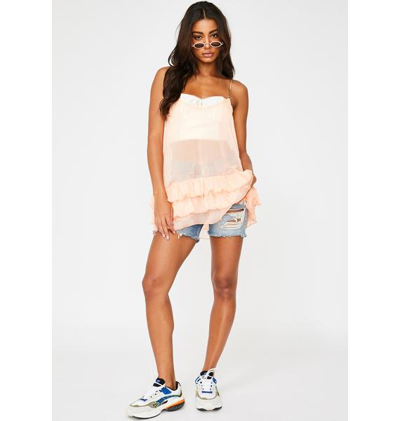 ZYA Peaches & Dreams Mini Dress