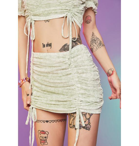 Double Daring Floral Mesh Skirt