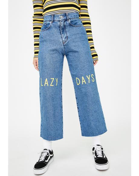 Lazy Days Denim Skater Jeans