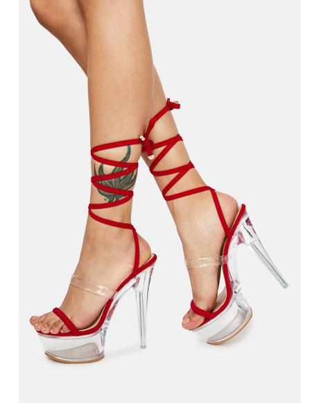 Cherry About It Strappy Heels