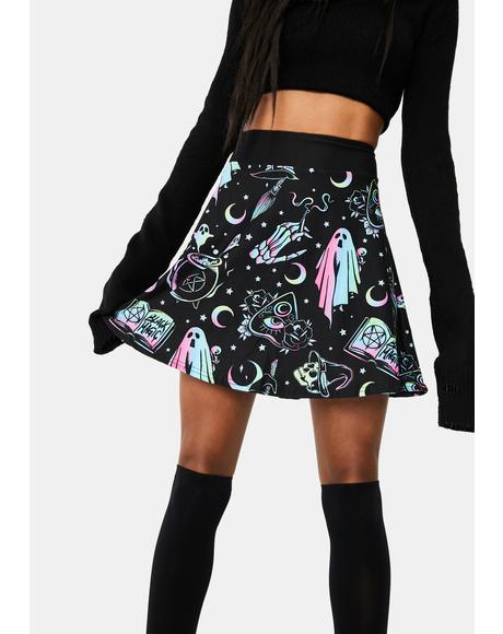 OMG Ghost Skater Skirt