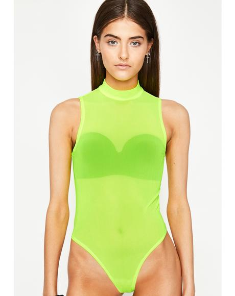 Aurora Glow Mesh Bodysuit