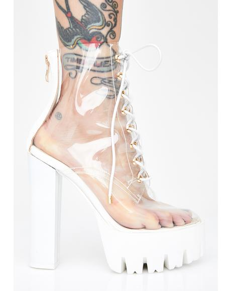 Icy Run Away With Me Clear Booties