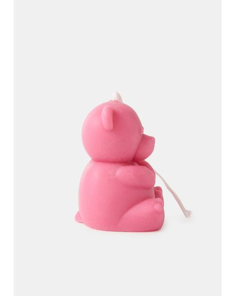 Baby Cuddle Me Teddy Bear Candle