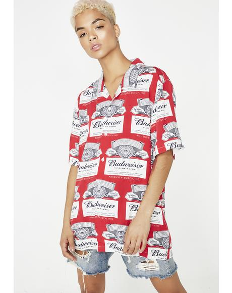 x Budweiser Label Button Up Shirt