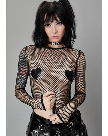 Ink Reverse The Curse Fishnet Top