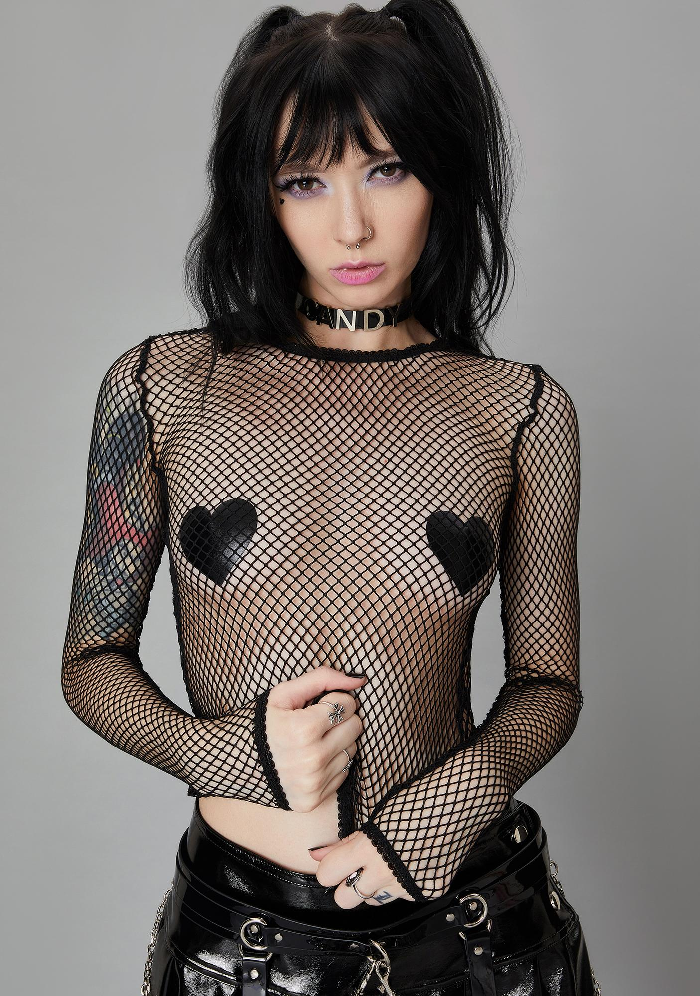 Widow Ink Reverse The Curse Fishnet Top