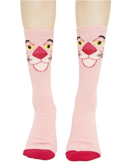 HUF X Thrasher Pink Panther Socks