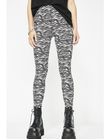 Wild Animal Zebra Leggings