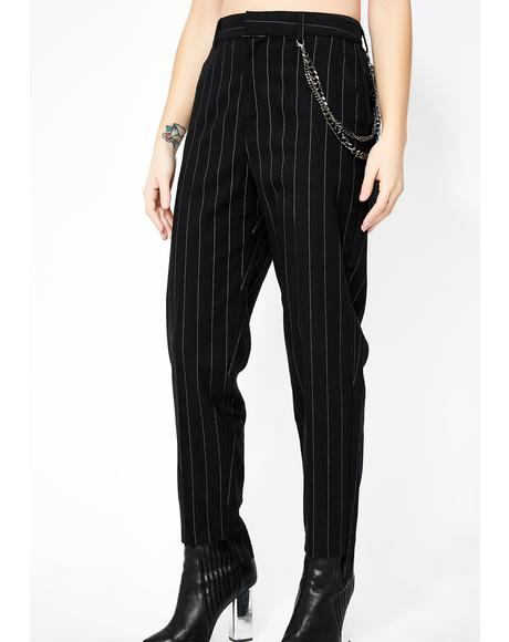 Back To Biz Pinstripe Trousers