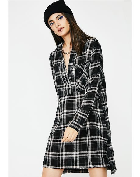 Victory Plaid Dress